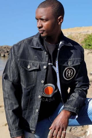 Roe Adinkra Jacket with Kente trims