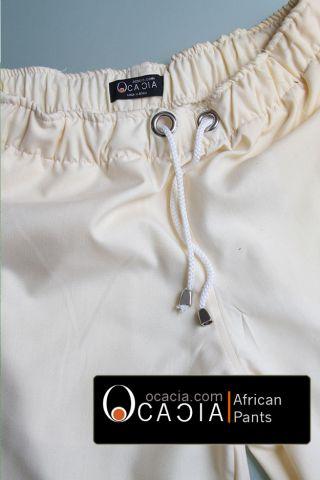 Cream Premium Linen Pants