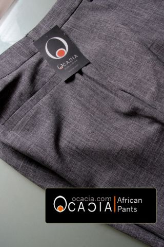 Back pocket simple clean African linen pants