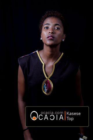 Kasese African ladies sleeveless top pose