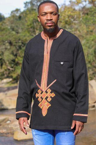 Habesha Menelik Ethiopian Orthodox Clothes with Cross