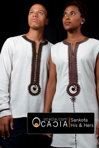 His and Hers Dashiki Sankofa Ghana