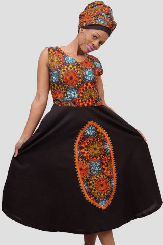 Tanzanian Swahili Ladies Embroidery dress formal and modern