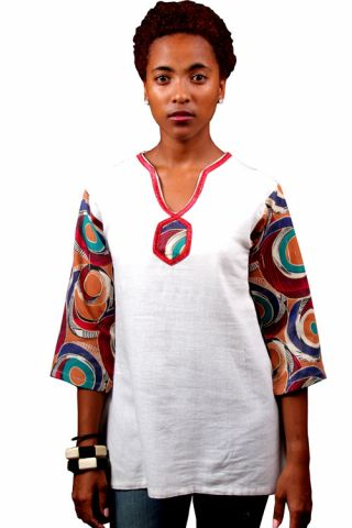 African wax print style