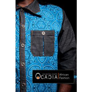South African Modern Traditional African dress shirt