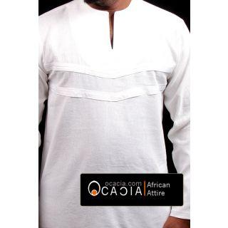 White Version of Qaam Modern Nigerian clothing