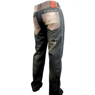 Ta Seti Afro Jeans 7 pocket distressed